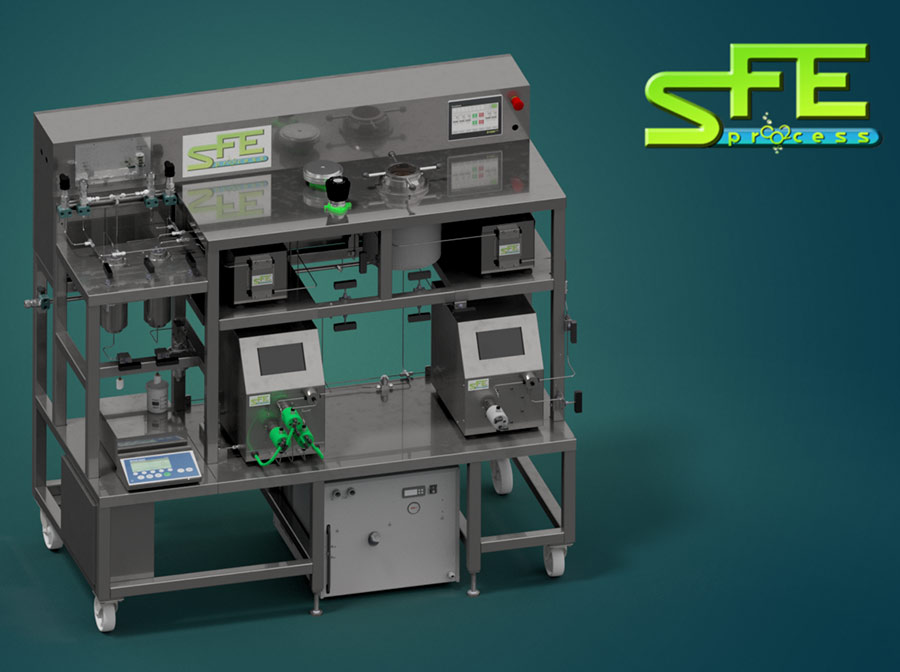 SFE Lab 1L 700bar sfe process 3d